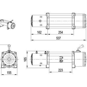 Verricello XT 12000lbs 12V