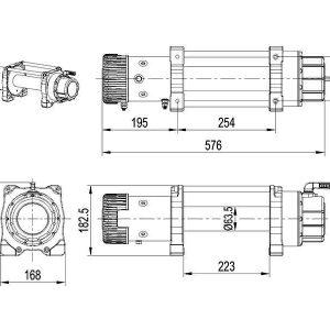 Verricello XT 12500lbs 12V