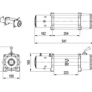 Verricello XT 9500lbs 12V